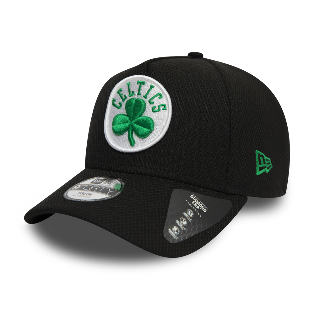 Boston Celtics Black Base Kids Trucker Cap