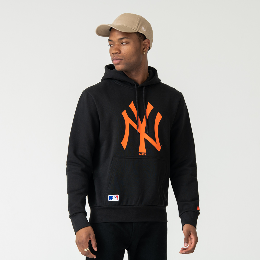 New York Yankees Orange Logo Pullover Hoodie | New Era Cap Co.