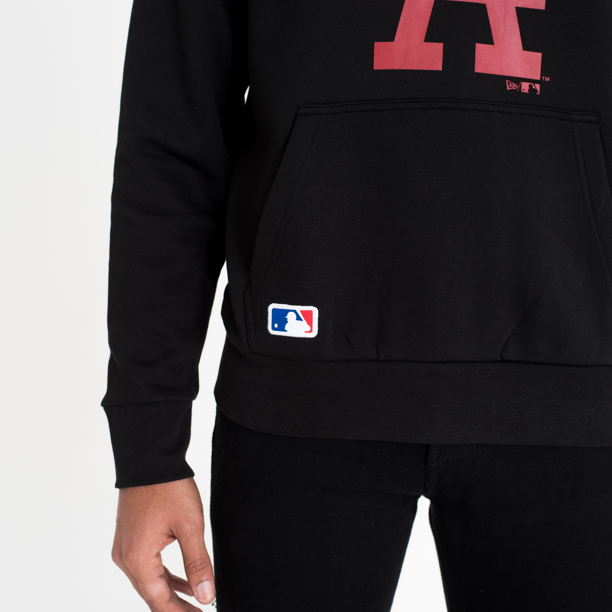 Los Angeles Dodgers Red Logo Pullover Hoodie