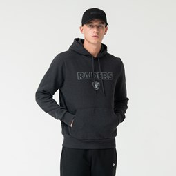 Sweat à capuche à enfiler gris des Raiders d'Oakland