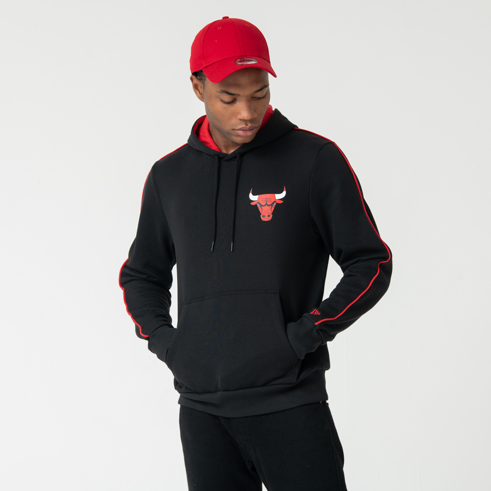 Chicago Bulls Striped Black Hoodie