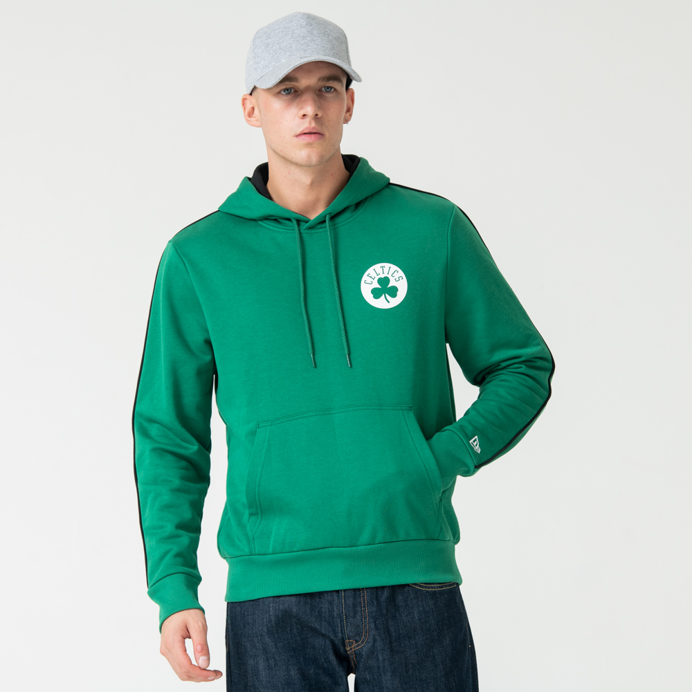 Boston Celtics Striped Green Pullover Hoodie