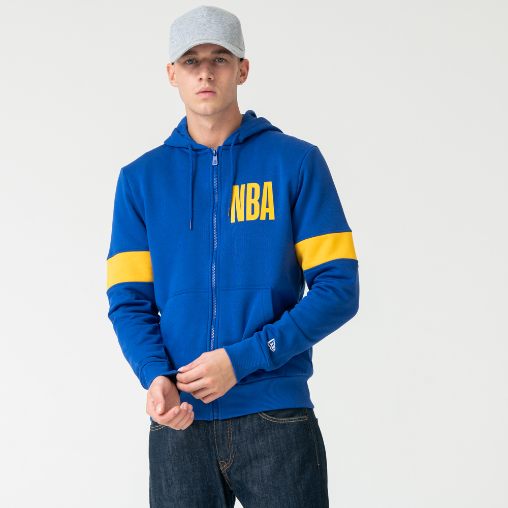 Golden State Warriors Blue Zip Hoodie