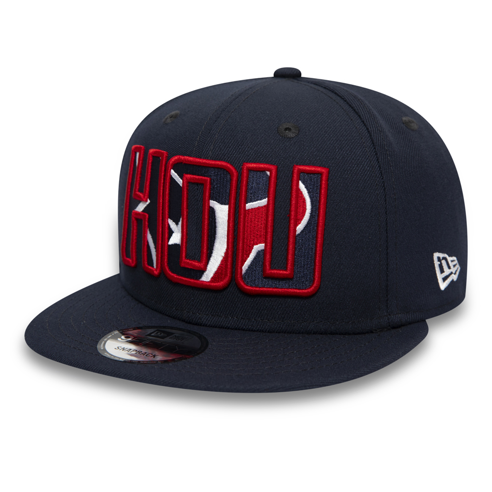 Houston Texans Typography Logo Navy 9FIFTY Cap