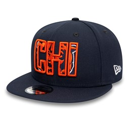 Chicago Bears Typography Logo Navy 9FIFTY Cap