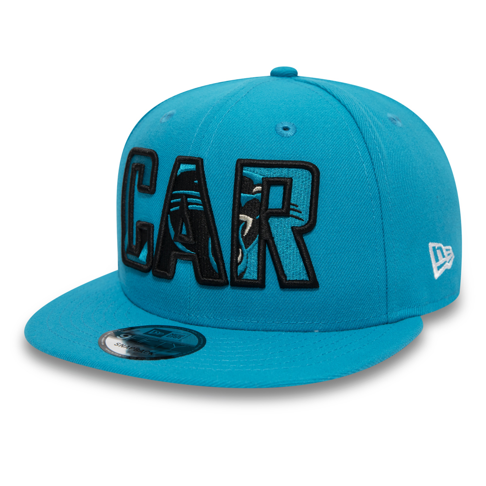 Carolina Panthers Typography Logo Blue 9FIFTY Cap