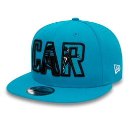 Gorra Carolina Panthers Typography 9FIFTY con logotipo, azul