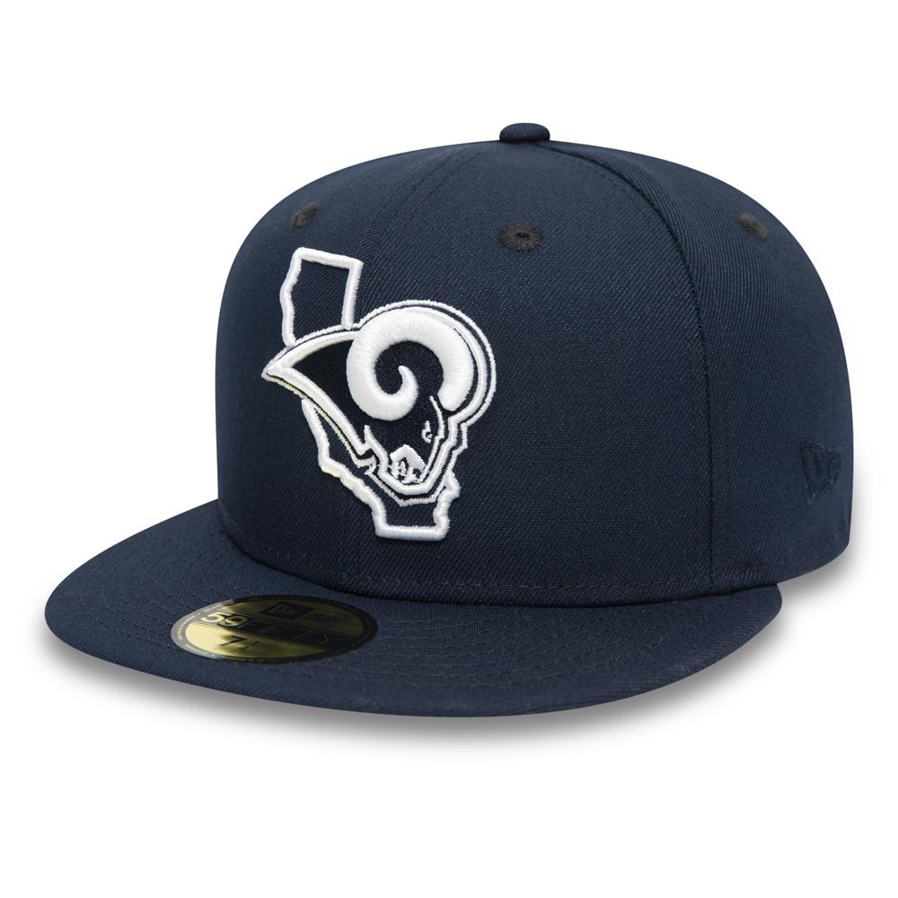 Casquette 59FIFTY bleu marine des Rams de Los Angeles