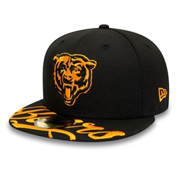 Gorra de Chicago Bears Script Visor 59FIFTY, negro