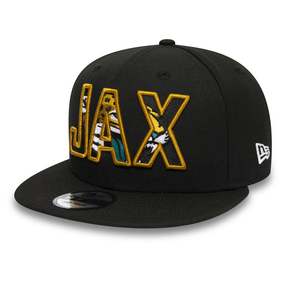 Schwarze 9FIFTY-Kappe mit Typografie-Logo der Jacksonville Jaguars