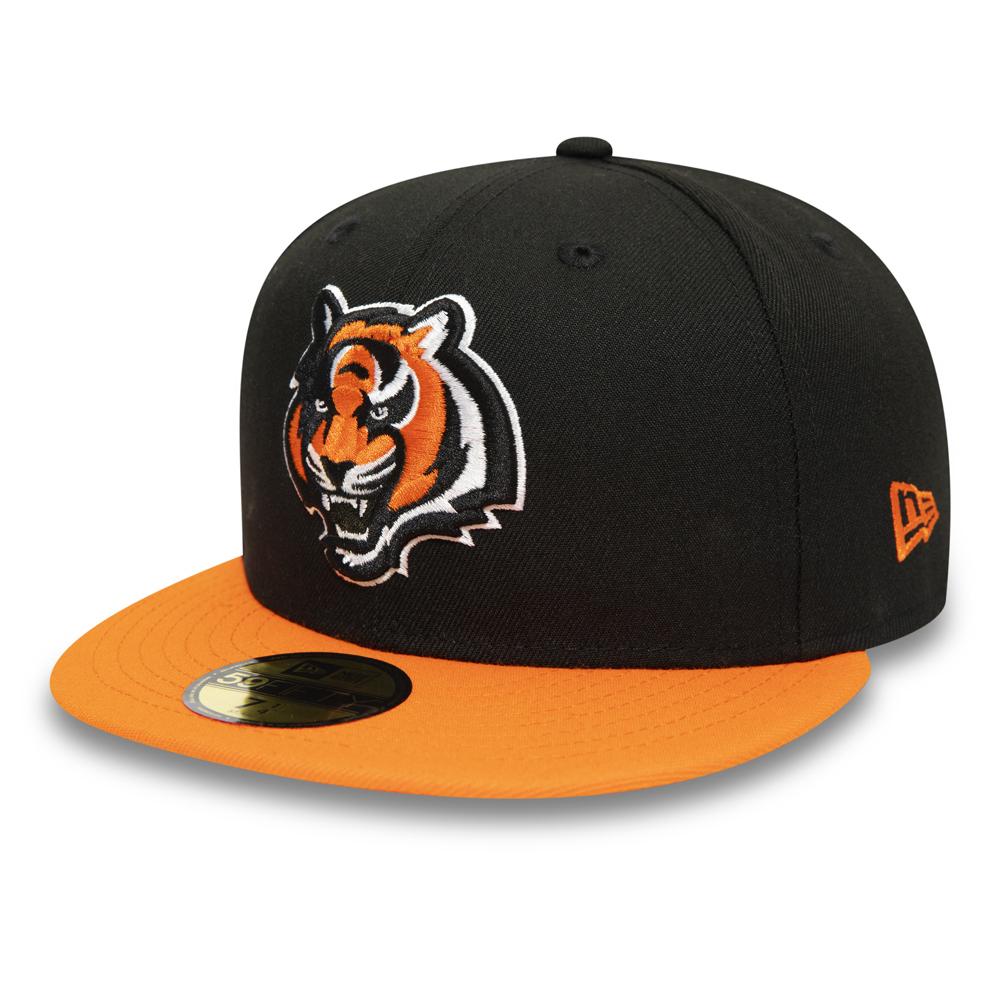 Gorra Cincinnati Bengals 59FIFTY, negro