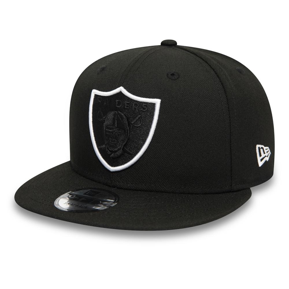 Casquette 9FIFTY noire avec logo Element des Raiders d'Oakland