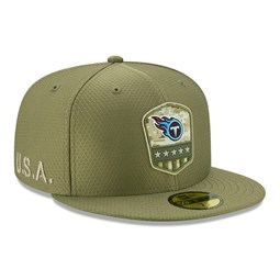 Tennessee Titans Salute To Service Green 59FIFTY Cap