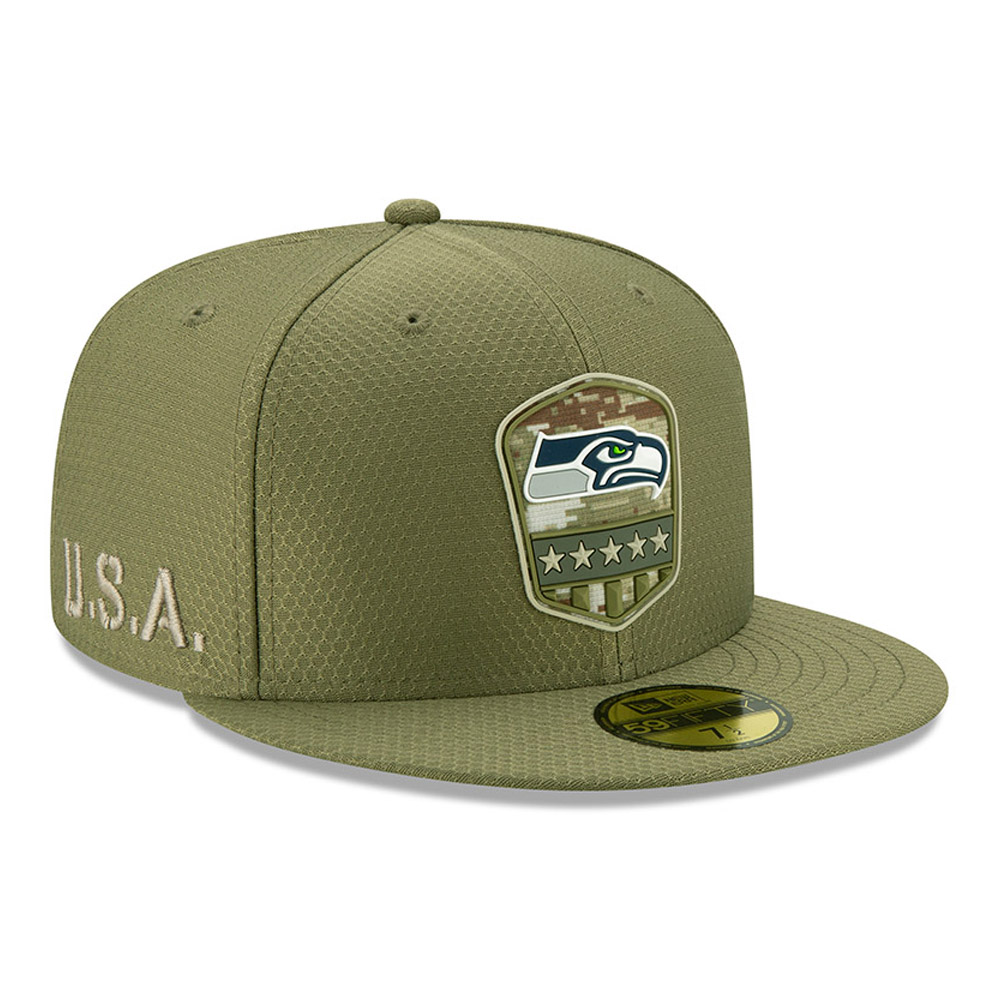Seattle Seahawks Salute To Service Green 59FIFTY Cap