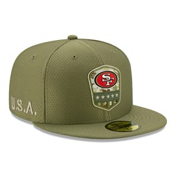 Gorra San Francisco 49ERS Salute To Service 59FIFTY, verde