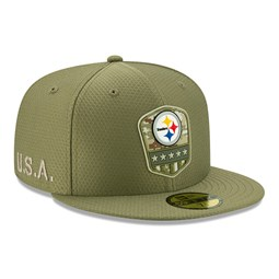 Casquette Pittsburgh Steelers Salute To Service 59FIFTY vert