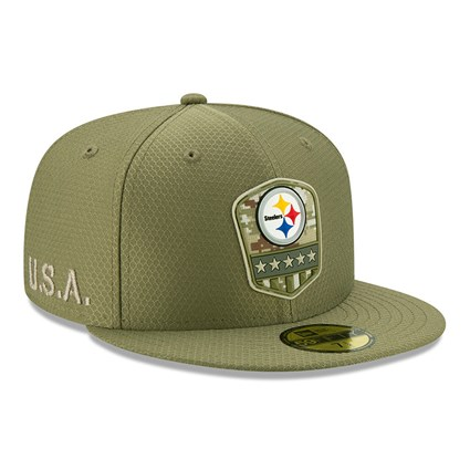 Pittsburgh Steelers Salute To Service Green 59FIFTY Cap