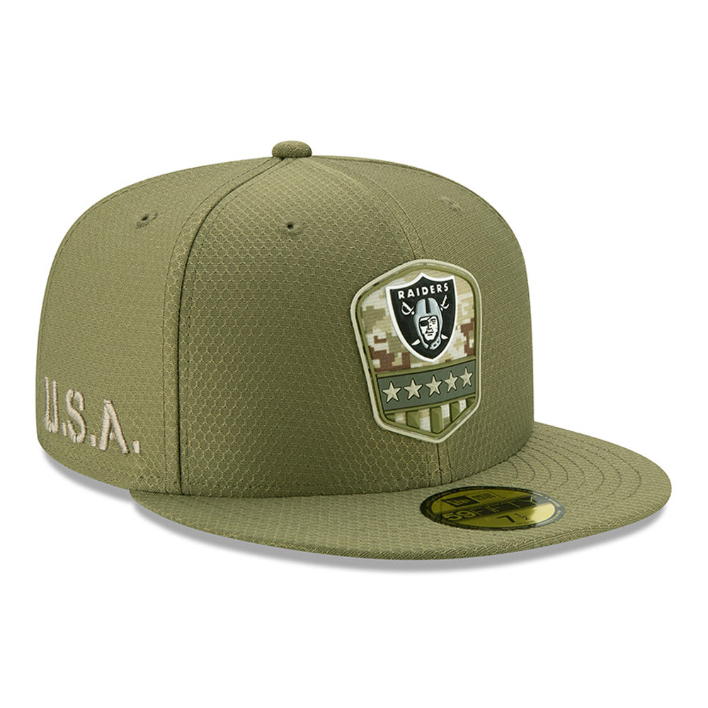 Oakland Raiders Salute To Service Green 59FIFTY Cap