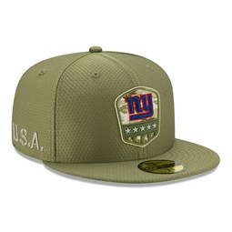 "Grüne ""Salute to Service"" 59FIFTY-Kappe der New York Giants"