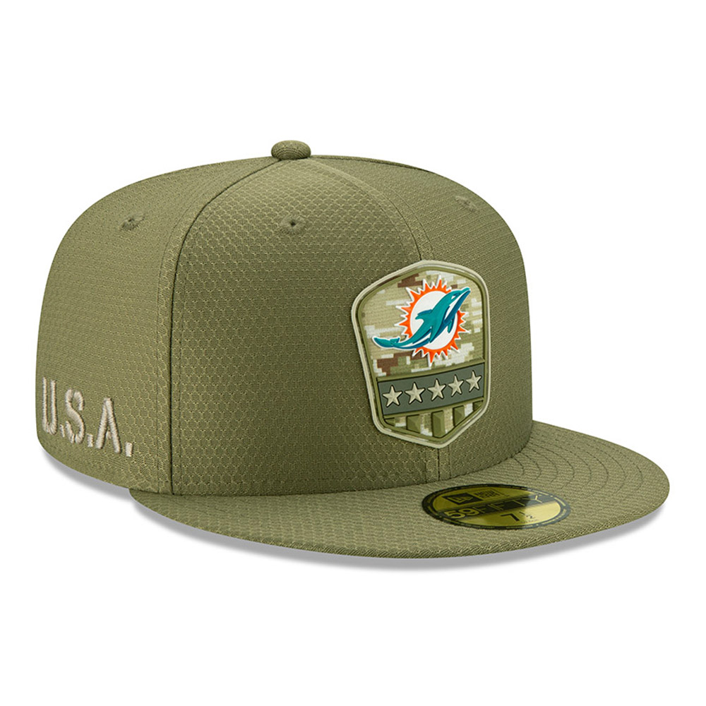 Miami Dolphins Salute To Service Green 59FIFTY Cap