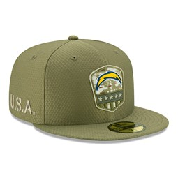 Los Angeles Chargers Salute To Service Green 59FIFTY Cap