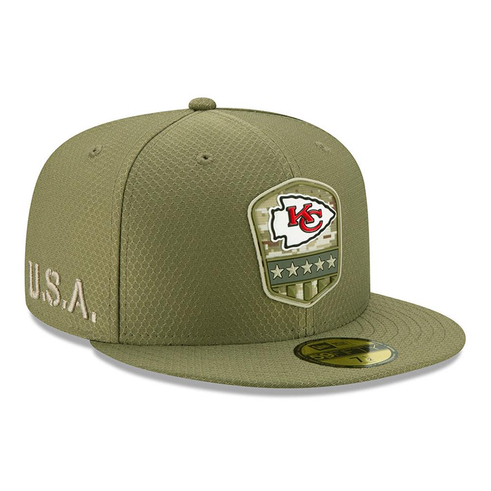 Casquette Kansas City Cap Chiefs Salute To Service 59FIFTY vert