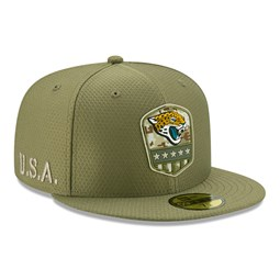 Jacksonville Jaguars Salute To Service Green 59FIFTY Cap