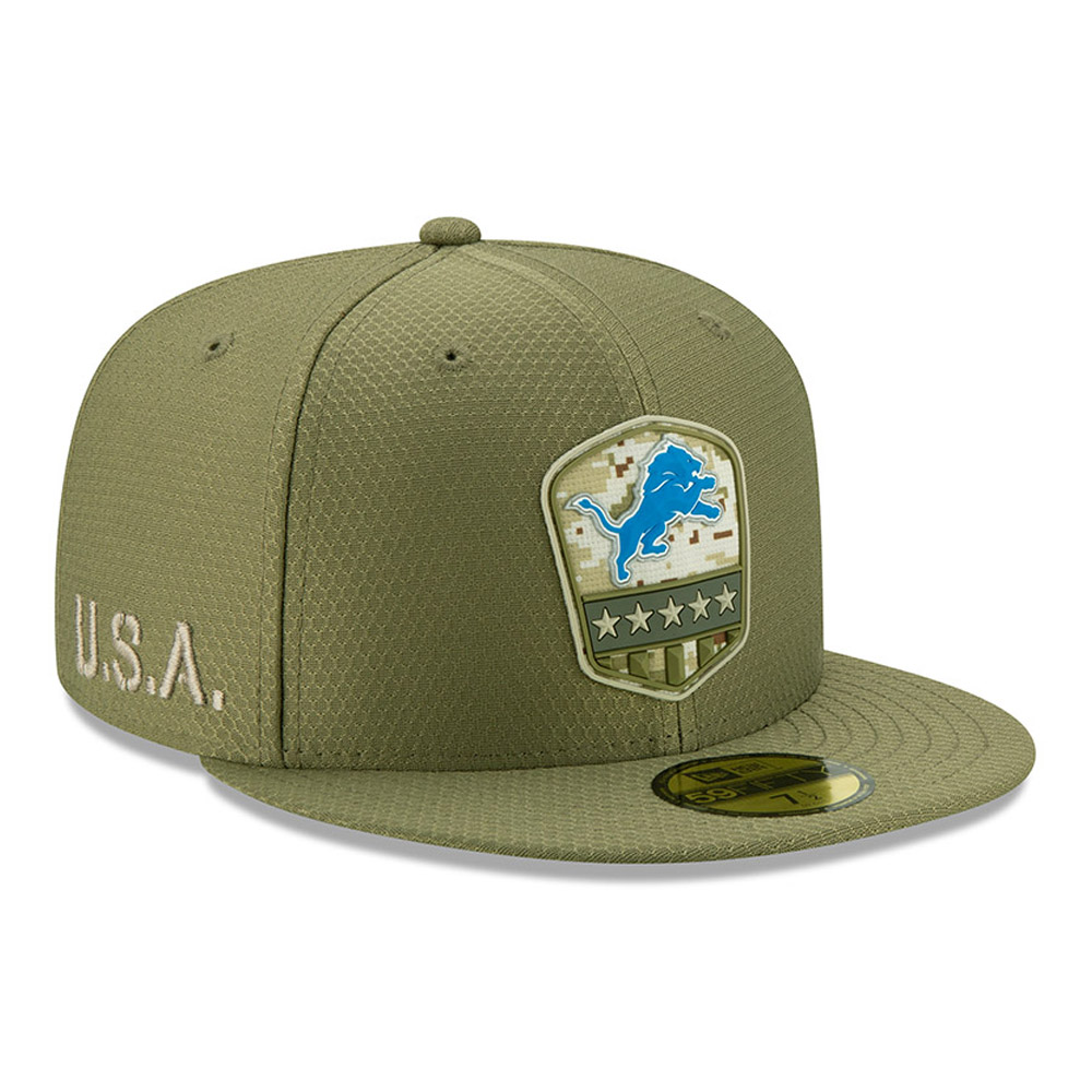 Detroit Lions Salute To Service Green 59FIFTY Cap