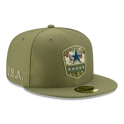 "Grüne ""Salute to Service"" 59FIFTY-Kappe der Dallas Cowboys"