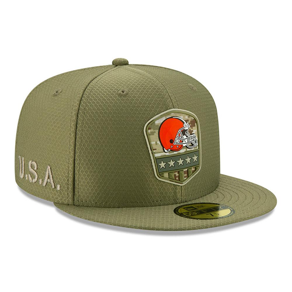 "Grüne ""Salute to Service"" 59FIFTY-Kappe der Cleveland Browns"