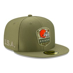 Caquette 59FIFTY Cleveland Browns Salute To Service verte