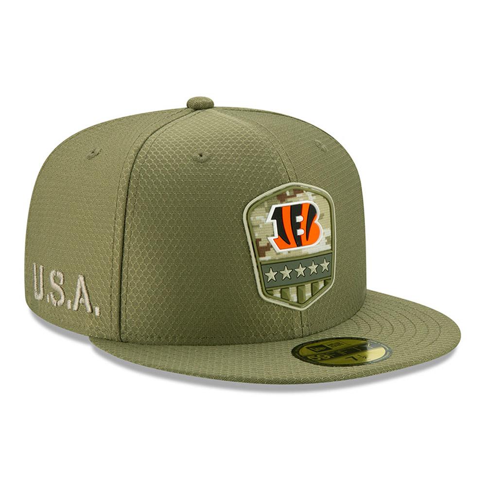 Cappellino 59FIFTY Cincinnati Bengals Salute to Service verde