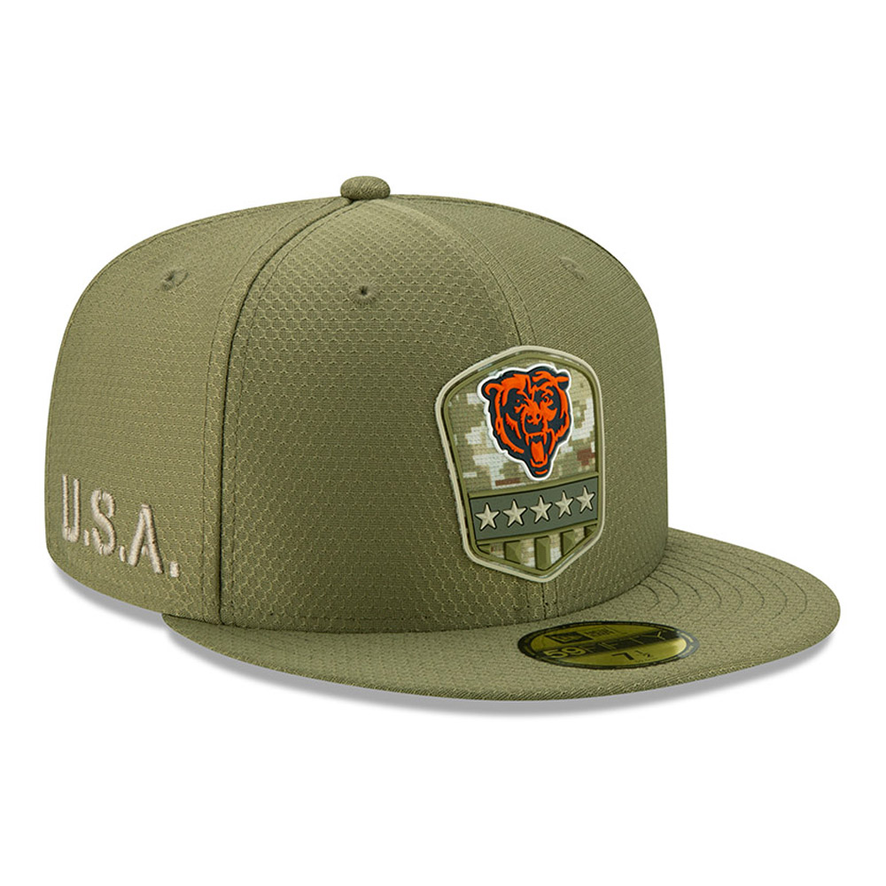 """Grüne """"Salute to Service"""" 59FIFTY-Kappe der Chicago Bears"""
