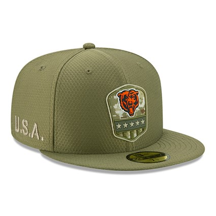 Chicago Bears Salute To Service Green 59FIFTY Cap