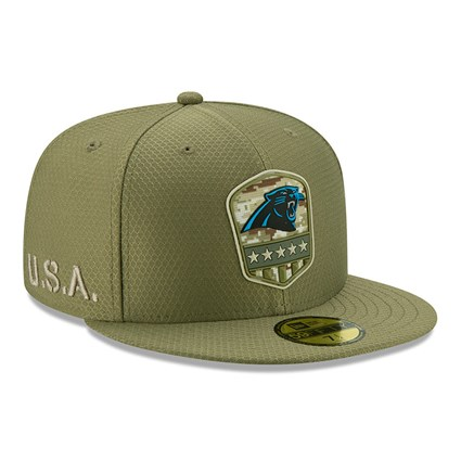 Carolina Panthers Salute To Service Green 59FIFTY Cap
