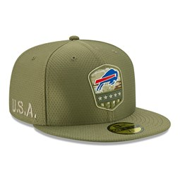 "Grüne ""Salute to Service"" 59FIFTY-Kappe der Buffalo Bills"