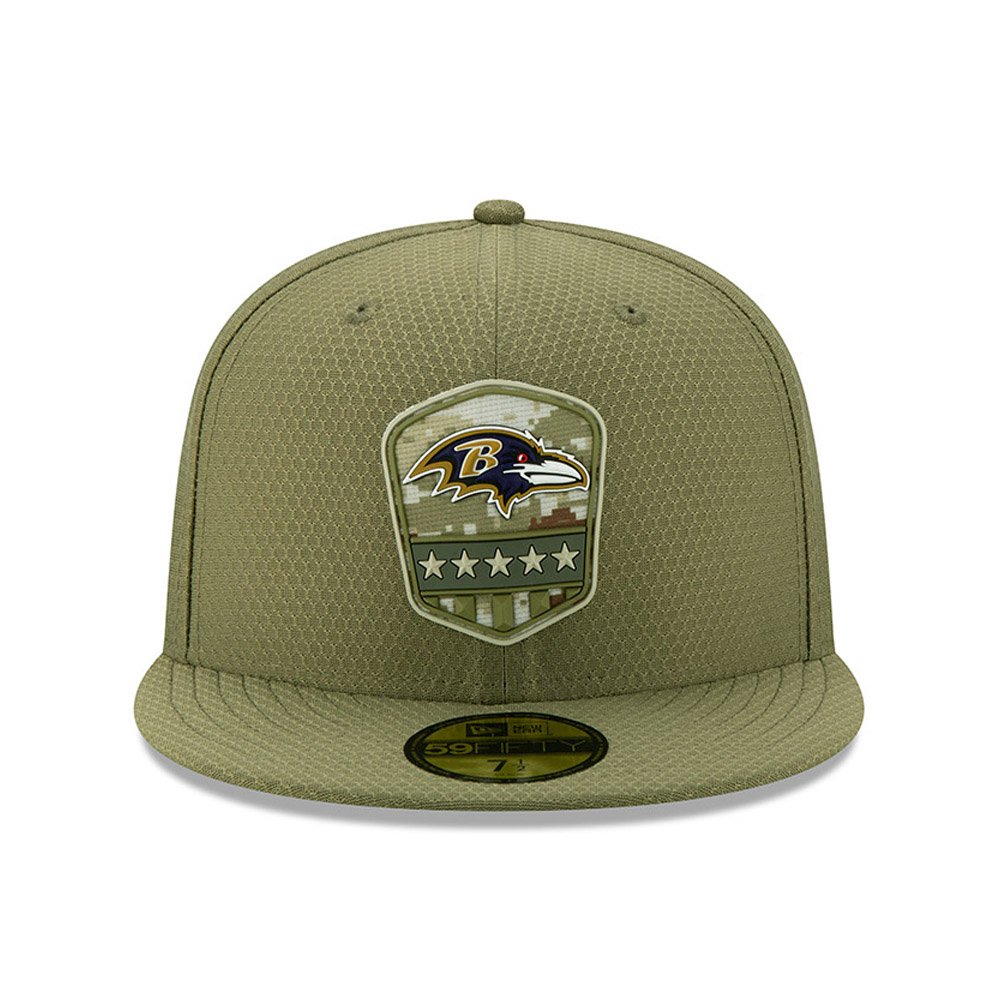 Baltimore Ravens Salute To Service Green 59FIFTY Cap