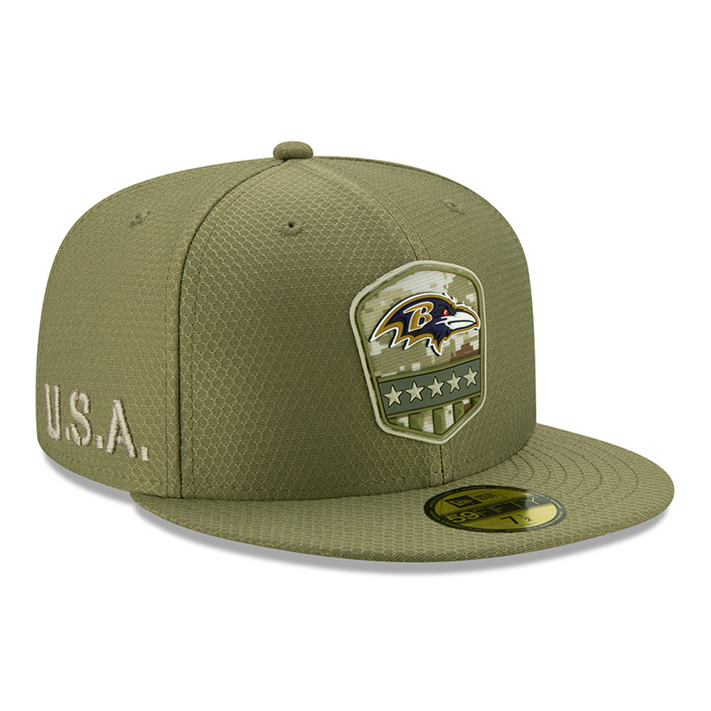 Gorra Baltimore Ravens Salute To Service 59FIFTY, verde