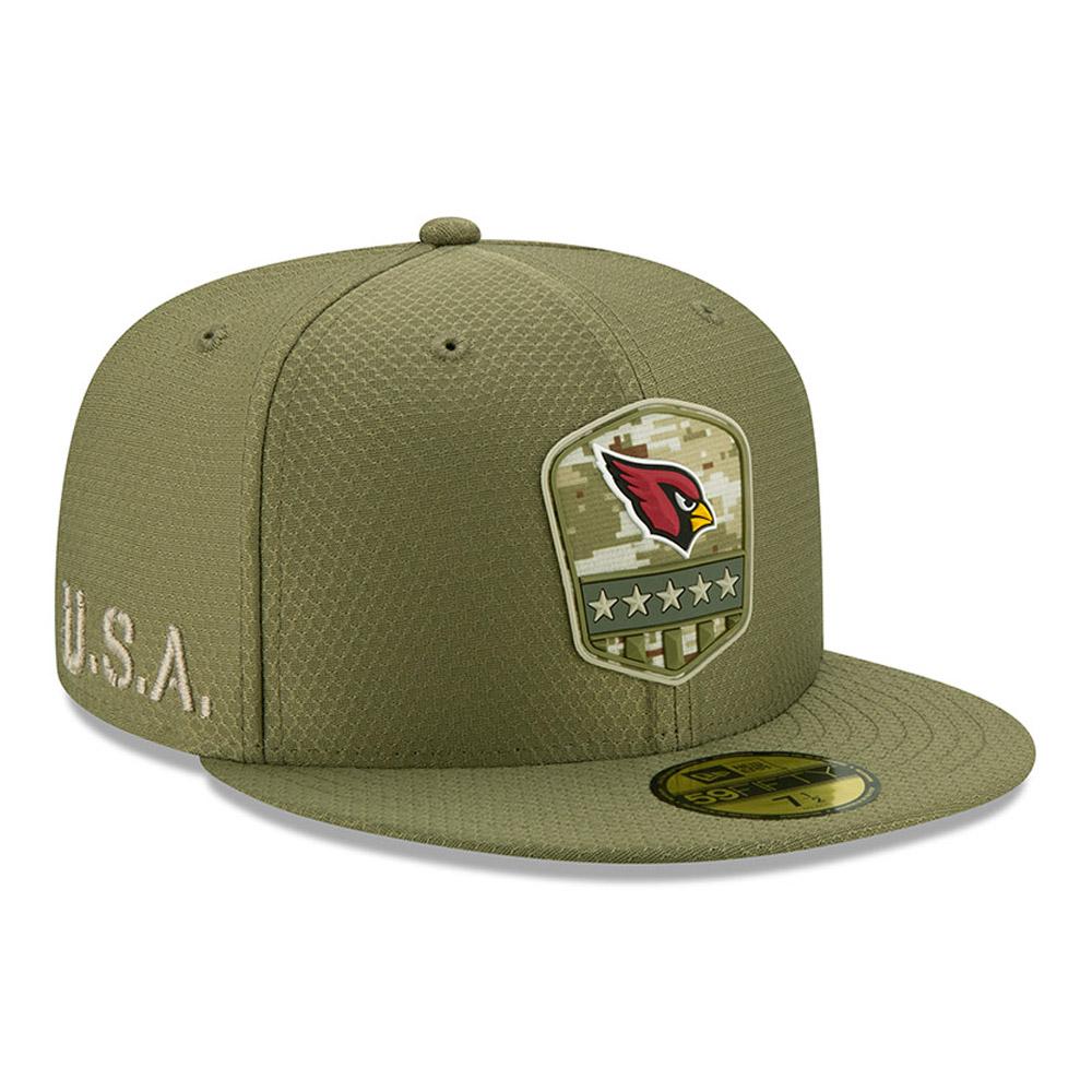 """Grüne """"Salute to Service"""" 59FIFTY-Kappe der Arizona Cardinals"""