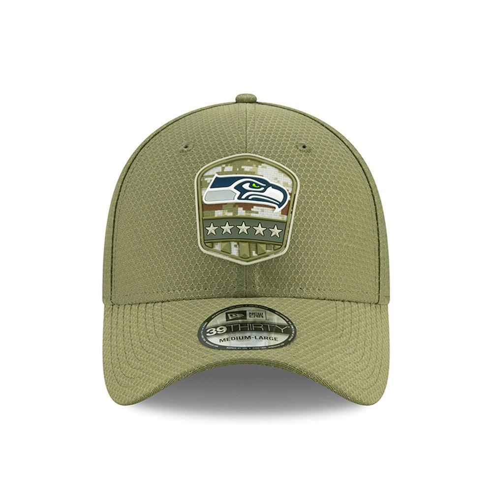 New Era 39Thirty Cap Salute to Service Seattle Seahawks