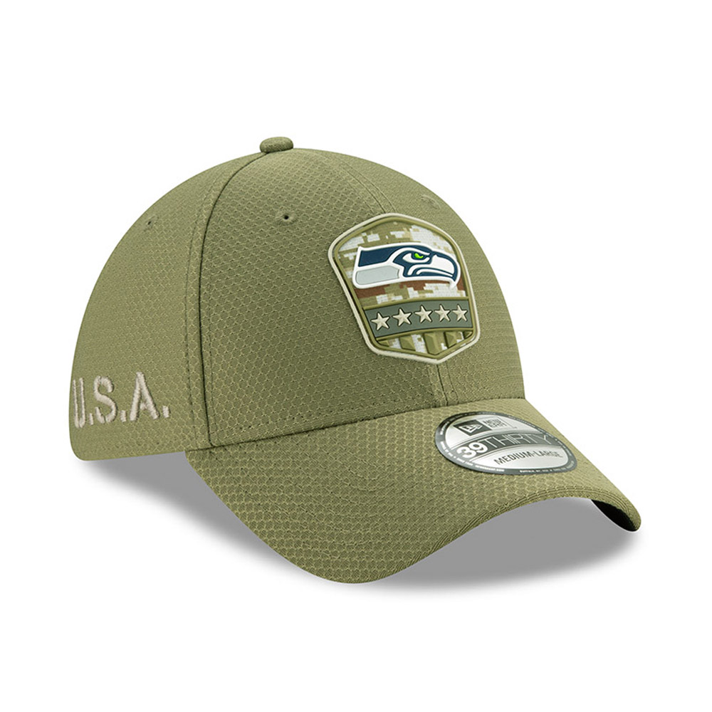 "Grüne ""Salute to Service"" 39THIRTY-Kappe der Seattle Seahawks"
