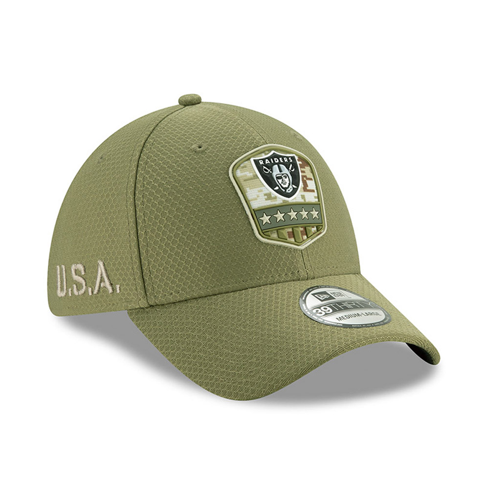Casquette Oakland Raiders Salute To Service 39THIRTY vert