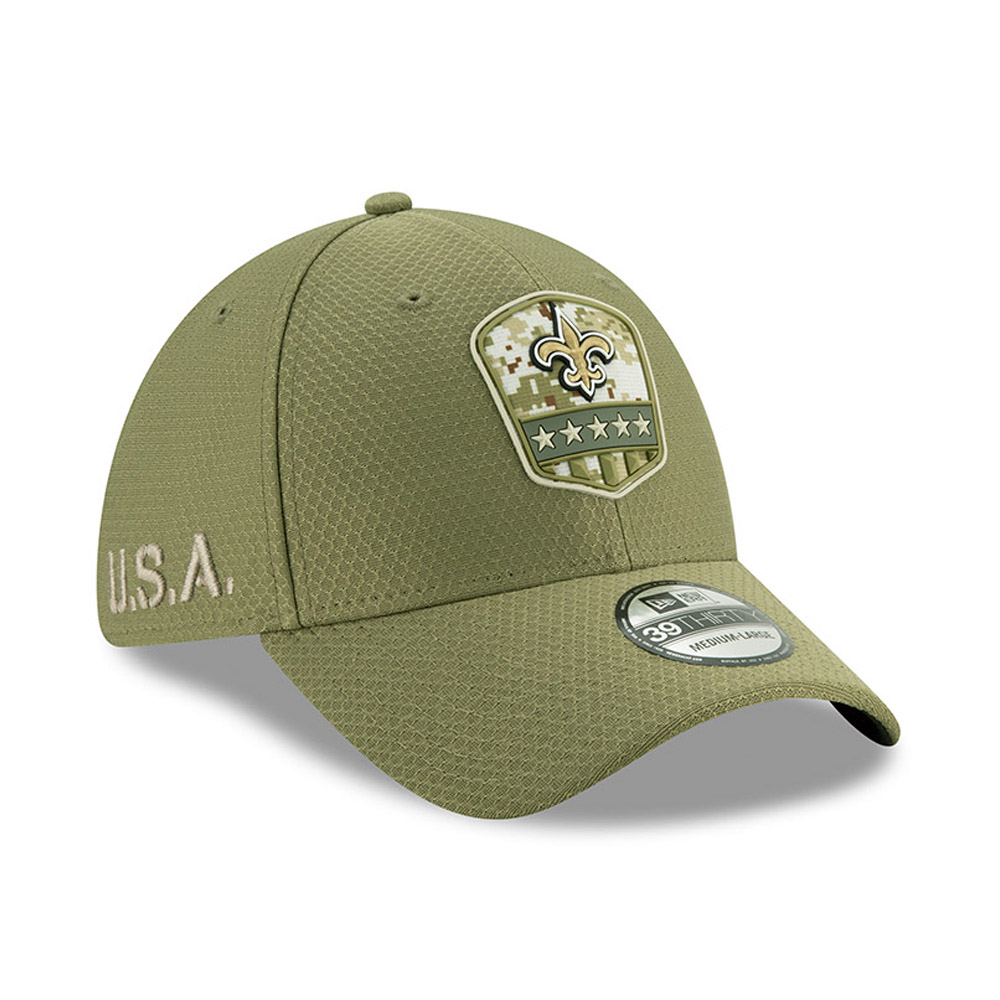 Casquette New Orleans Saints Salute To Service 39THIRTY vert