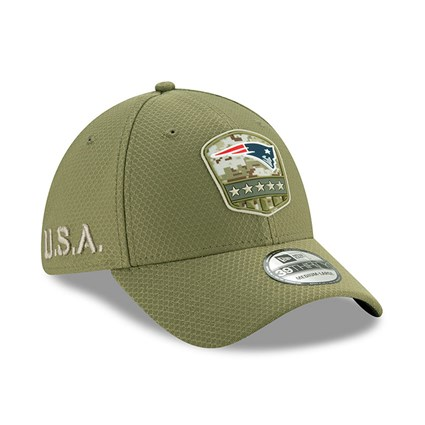New England Patriots Salute To Service Green 39THIRTY Cap
