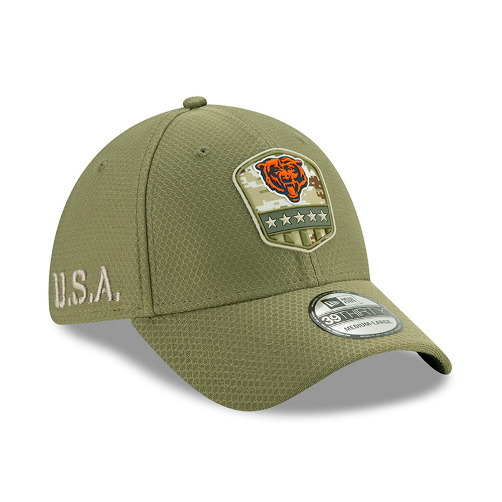 Casquette Chicago Bears Salute To Service 39THIRTY vert