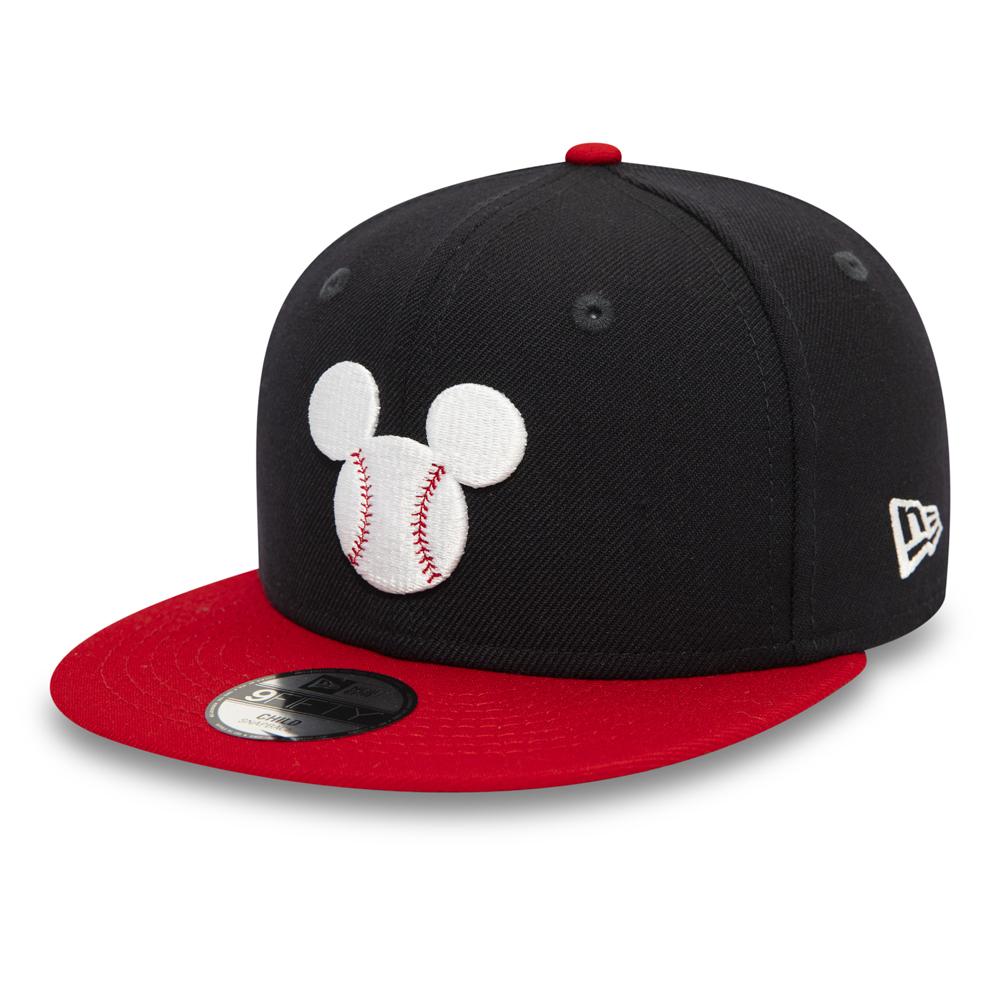 Cappellino 9FIFTY Mickey Mouse Baseball Logo blu navy da bambino