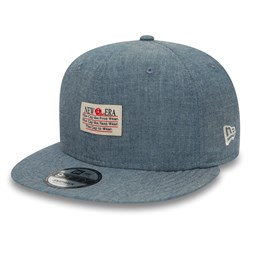 Casquette New Era 9FIFTY en chambray bleue et empiècement