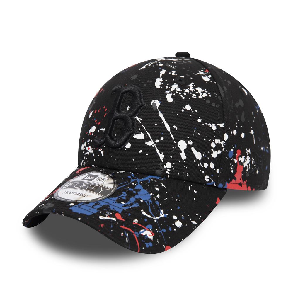 9FORTY-Kappe der Boston Red Sox mit Farbspritzer-Effekt