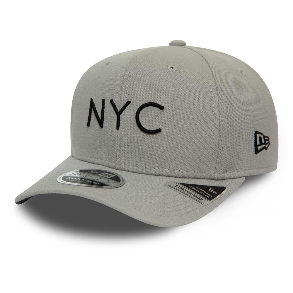 Casquette 9FIFTY NYC New Era extensible grise avec languette de réglage crantée