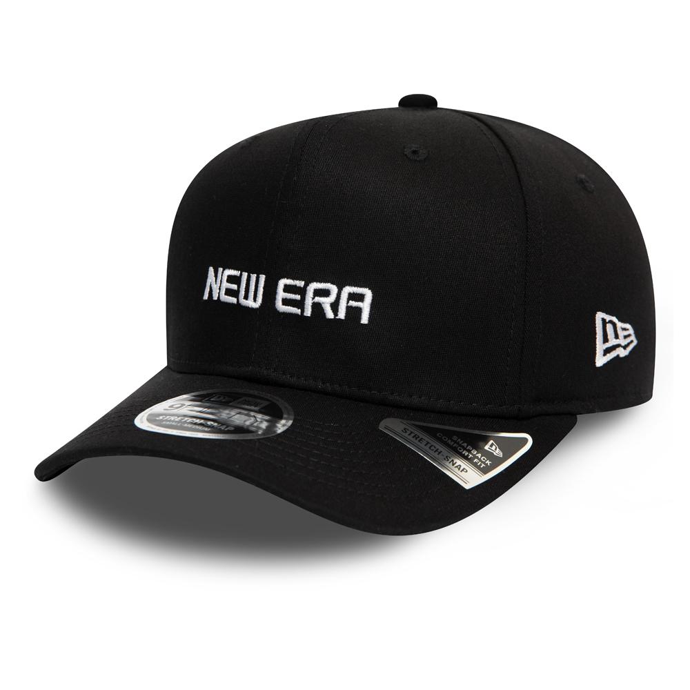 Casquette 9FIFTY Essential New Era extensible noire avec languette de réglage crantée